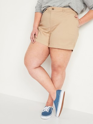 Old Navy High-Waisted Twill Plus-Size Everyday Shorts -- 5-inch inseam