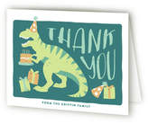 Minted Stomp and Chomp Dino Children's Birthday Party Thank You Cards