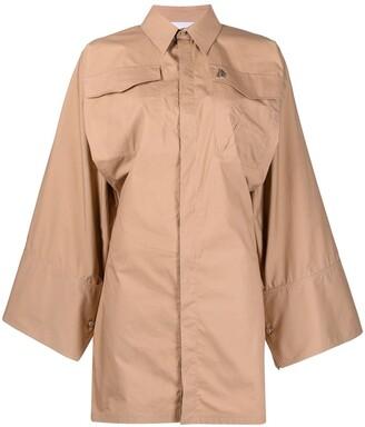 ATTICO Batwing Sleeve Cotton Shirt Dress