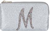 Accessorize Glitter M Alphabet Ziptop Coin Purse