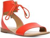 Franco Sarto Glenys Lace-Up Flat Sandals