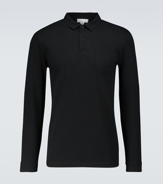 Sunspel Riviera long-sleeved polo shirt