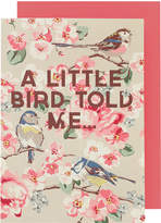 Cath Kidston Meadowfield Birds A little bird told me Greeting Card