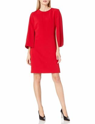 Tahari by Arthur S. Levine Women's Long Wide SLV Shift Dress