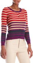 Sonia Rykiel Variegated Stripe Wool Cardigan