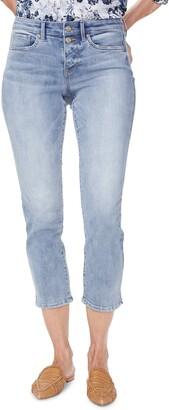 NYDJ Sheri Mock Fly Stretch Ankle Jeans
