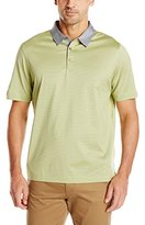 Cutter & Buck Men's Short Sleeve Kit Mercerized Mini Stripe Polo