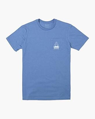 RVCA Men's LAB CO Short Sleeve Crew Neck Pocket-Shirt