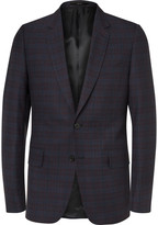 Paul Smith - Navy Soho Slim-fit Wool And Silk-blend Jacquard Suit Jacket