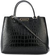 Emporio Armani crocodile effect tote - women - Leather - One Size