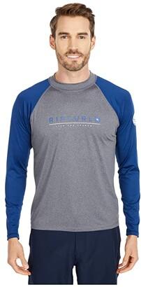 Rip Curl Shockwave Relaxed Long Sleeve UV Tee (Grey Blue/Asphalt) Men's Swimwear