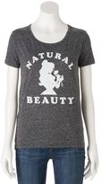 """Disney Disney's Juniors' Beauty and the Beast """"Natural Beauty"""" Graphic Tee"""