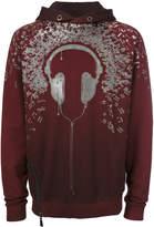 Super Légà ̈re headphone print hoodie