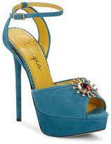 Charlotte Olympia Pomeline Suede Platform Sandals