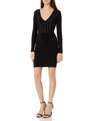 GUESS Women's Long Sleeve Cocktail Dress