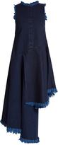 Marques Almeida MARQUES'ALMEIDA Frayed-edge asymmetric-hem denim dress