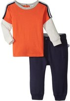 Splendid Two Fer Top With Pant Set (Baby) - Orange - 3-6 Months