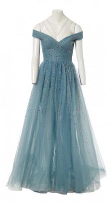 Elie Saab Blue Silk Dresses