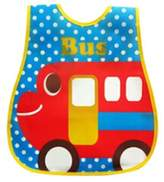 Kylin Express Baby Bib Best Home/Travel Bib Lovely Cartoon Design Soft,Waterproof Bus