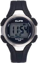 Clips Men's Quartz Watch with Grey Dial Digital Display and Rubber Strap 539-6000-44