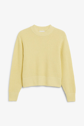 Monki Balloon sleeve knit sweater