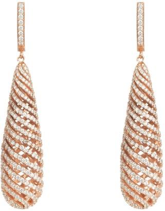 Rosegold Hypnotic Spiral Drop Earrings