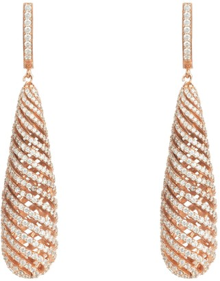 Latelita Hypnotic Spiral Drop Earrings Rosegold