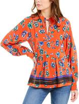 Derek Lam 10 Crosby Floral Silk Tunic