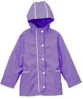 Arshiner Girl's Waterproof Raincoat Switchback Rain Jacket 130
