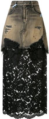 Maison Mihara Yasuhiro High Rise Maxi Skirt
