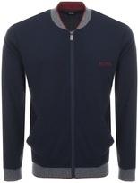 HUGO BOSS Full Zip College Sweatshirt Blue