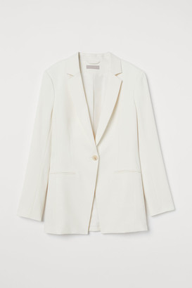 H&M Fitted Blazer - White