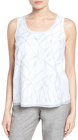 Nic+Zoe White Sands Embroidered Tank