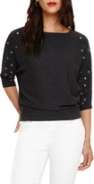 Phase Eight Scattered Eyelet Cristine Knit, Charcoal Grey
