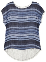 Vince Camuto Two by Striped Mixed-material Top