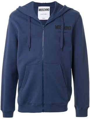 Moschino Couture logo zip-up hoodie