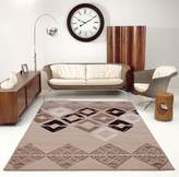 Ladole Rugs Flash Caramel Geometric Area Rug Modern Contemporary Area Rug Runner for Home, Kitchen , Living Room or Hallway