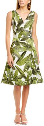 Oscar de la Renta Jacquard Silk A-Line Dress