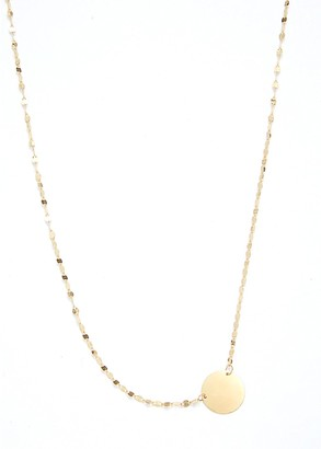 Saks Fifth Avenue Made In Italy 14K Yellow Gold Circle Pendant Necklace