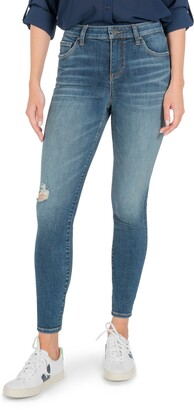 KUT from the Kloth Donna Ripped High Waist Ankle Skinny Jeans