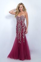 Blush Lingerie Ornate Sweetheart Tulle Mermaid Gown 7017