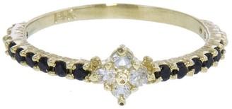 Ruta Reifen Black Spinel Clover Yellow Gold Ring