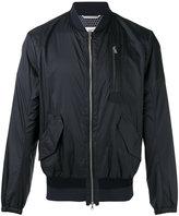 Oamc classic bomber jacket - men - Cotton/Calf Leather/Nylon/Viscose - L