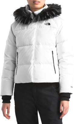 The North Face Dealio 550 Fill Power Crop Hooded Down Jacket