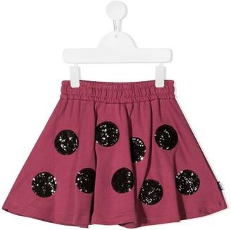 Molo sequin-dot A-line mini skirt