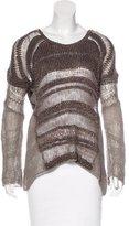 Helmut Lang Crocheted Silk Sweater