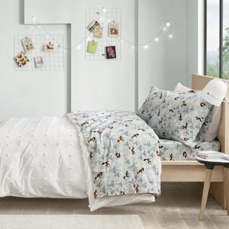 Comfort Classics Cozy Soft Cotton Novelty Print Kids Flannel Sheet Set, Multiple Colors