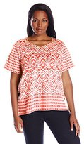 Alfred Dunner Women's Plus Size Monotone Knit Top