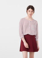MANGO Textured Flared Skirt