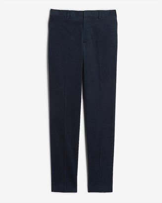 Express Extra Slim Solid Navy Corduroy Suit Pant